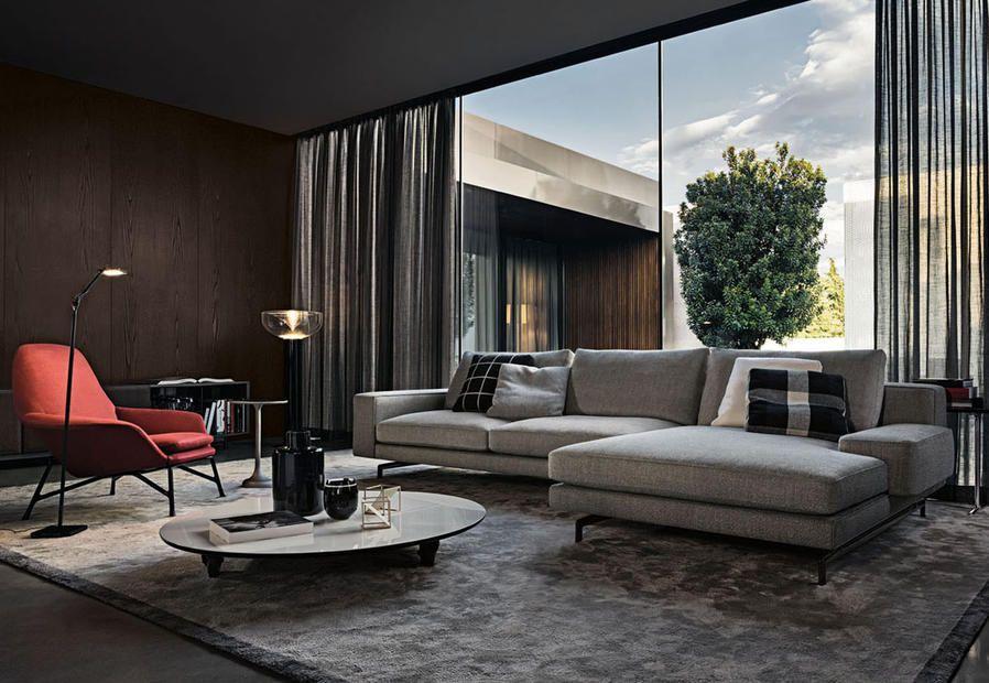 Minotti design per la casa serie di imbottiti sherman for Decorazione di casa