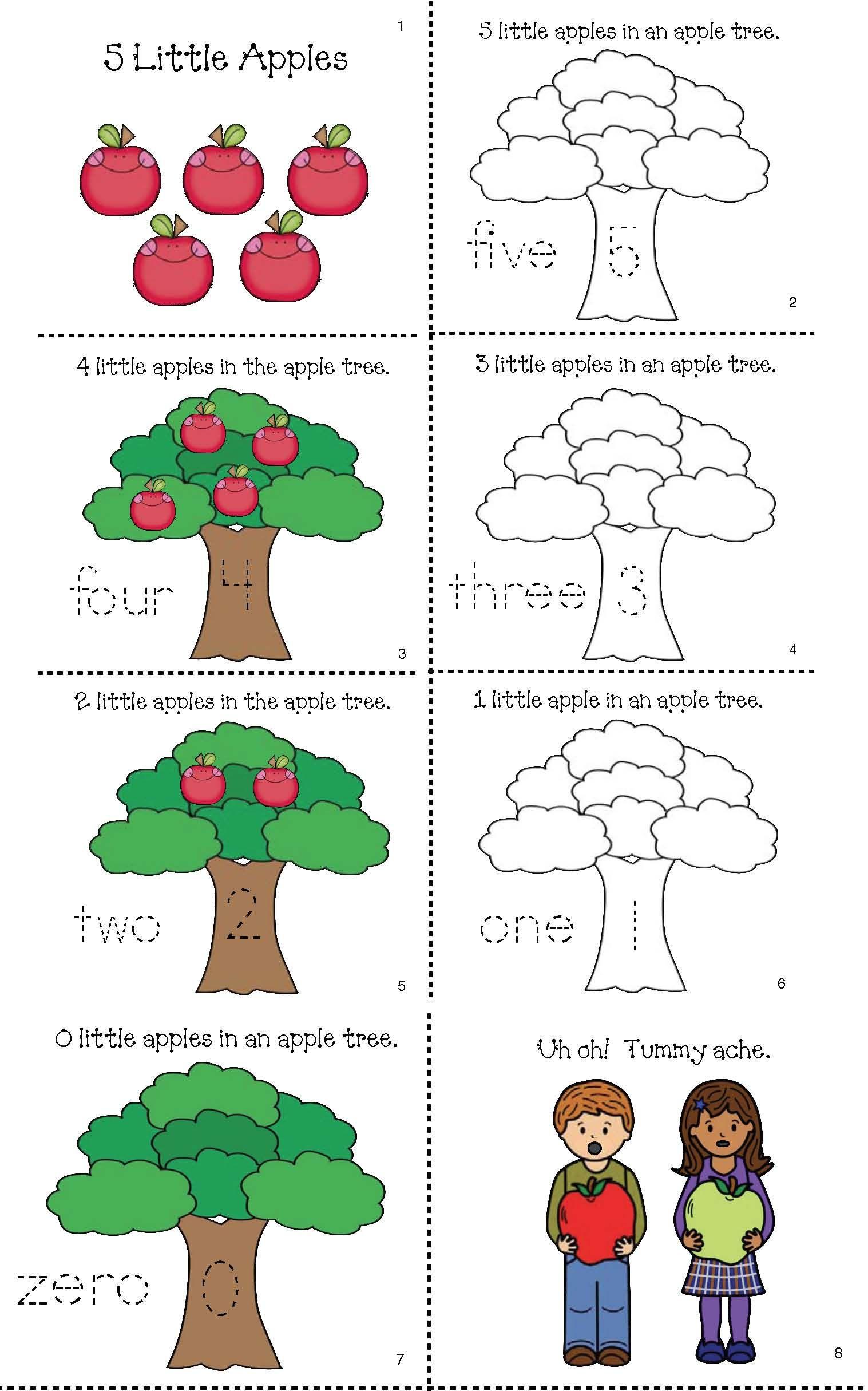 Preschool Worksheet Apple Trees