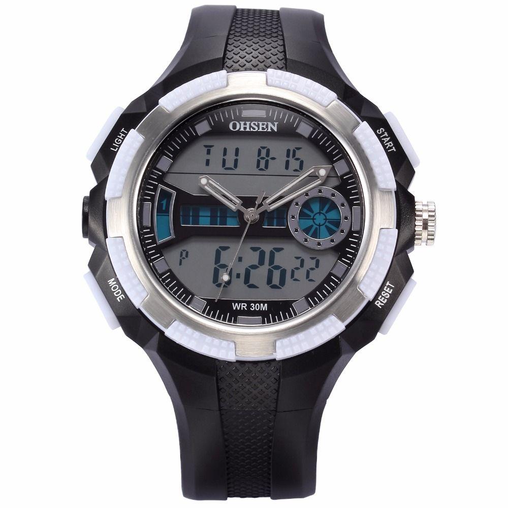 >> Click to Buy << OHSEN Cool Digital Dual Time Analog Date Alarm Chronograph Quartz Rubber Band Reloj Waterproof Sport Mens Digital Watch /OHS183 #Affiliate