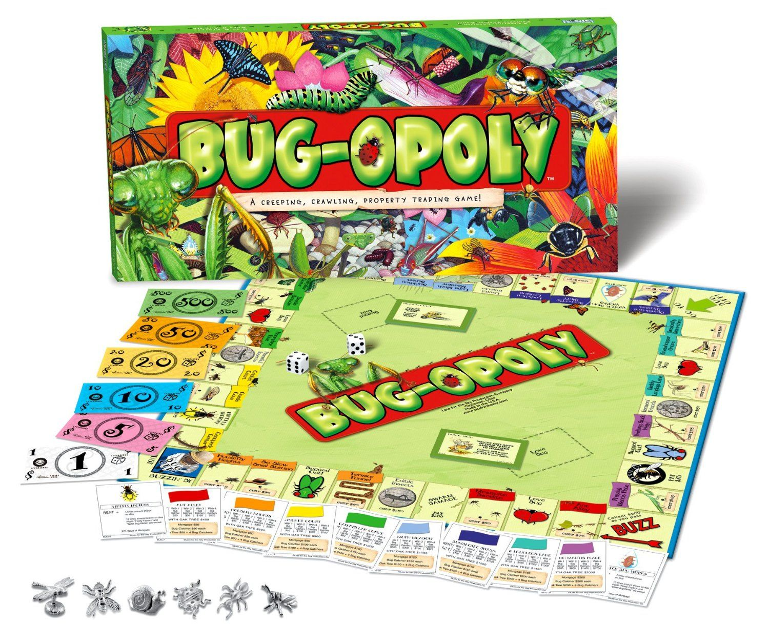 Bugopoly monopoly board game toys games