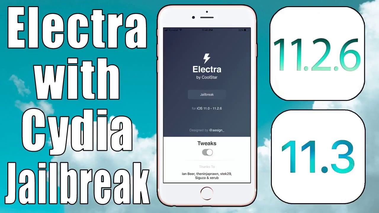 Electra RC2] Download for iPhone & iPad iOS 11 3 & 11 2 6