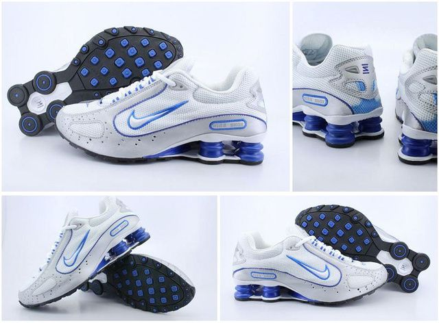 Mens 975ZM15 2015 Silver Royal Blue Nike Shox Monster Shoes :  Shoxclearance.com