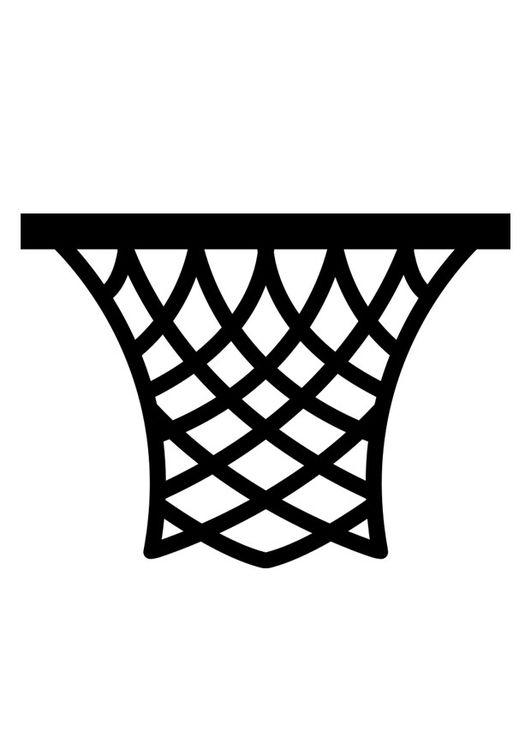 Dibujo Para Colorear Canasta Canasta De Basquetbol Decoracion Armarios Baloncesto Dibujos