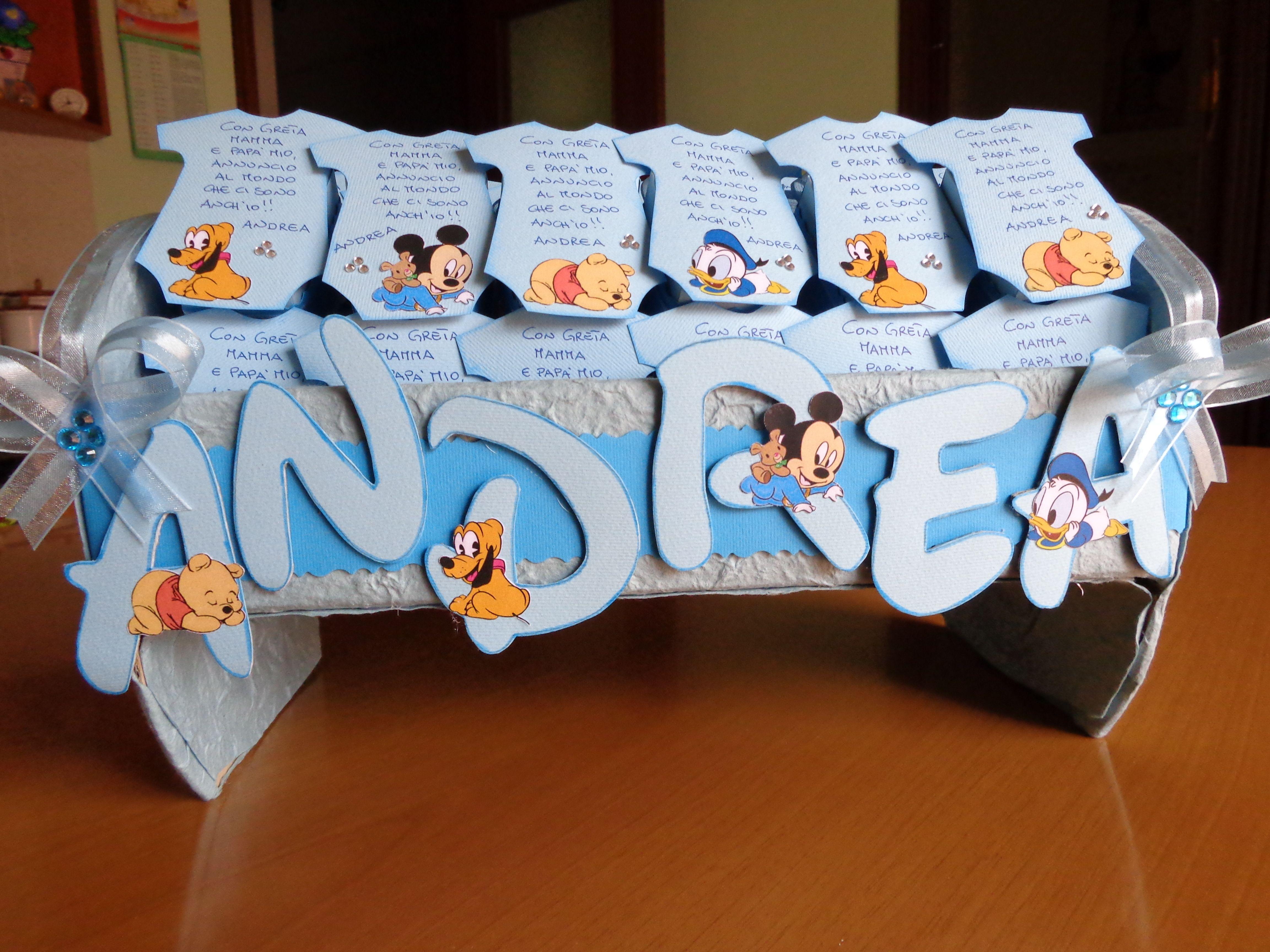 Tavolo Nascita ~ Culla per scatoline portaconfetti per una nascita scatoline