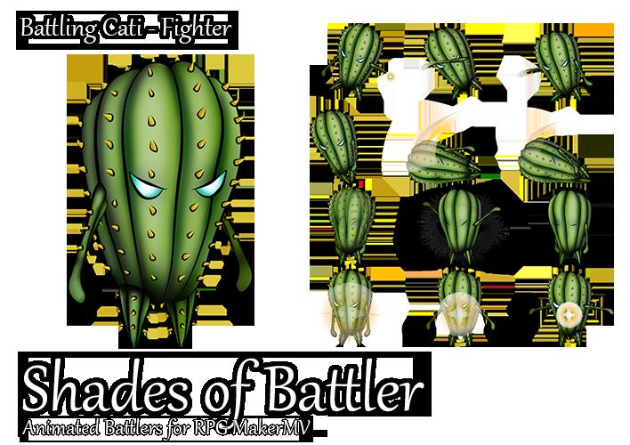 RPG Maker MV Battler - Battling Cacti: Fighter by