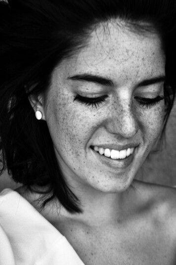 #freckles #freckled #freckledgirl #me #smile #whitedress