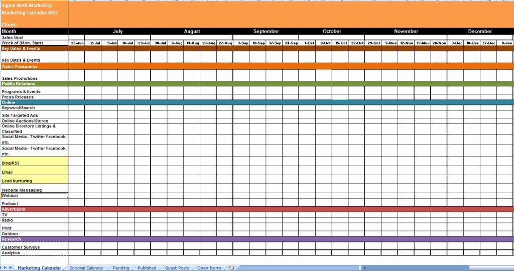 Google Calendar Template 2017 Fresh Free 2018 Excel Spreadsheet