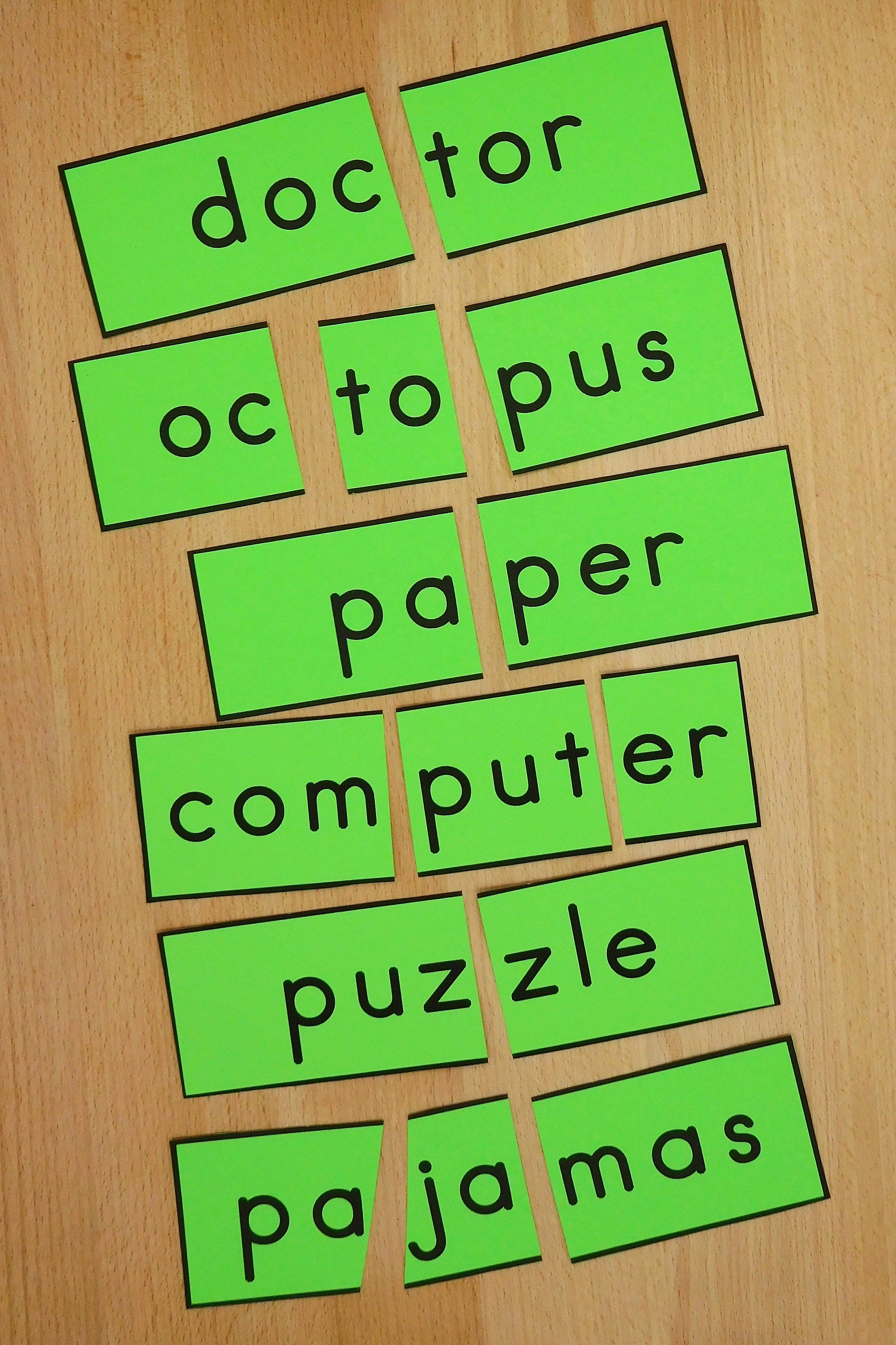 Skillful Spellers Count Syllables Teaching Syllables Syllables Activities Syllable Rules