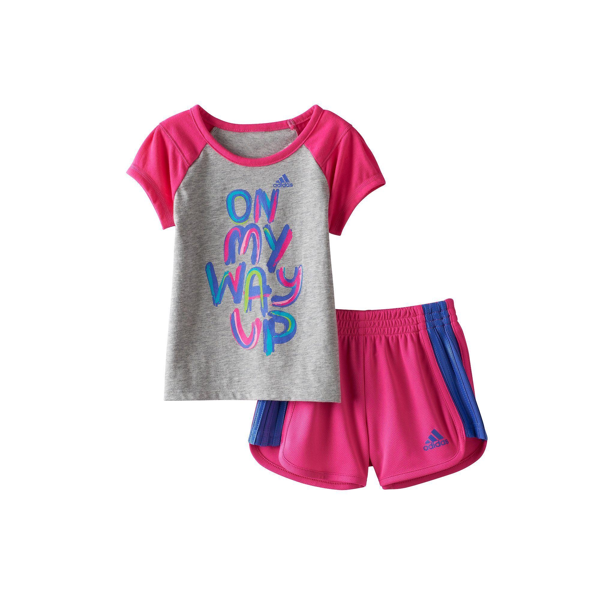 adidas Originals Baby Infant Originals Trefoil Tee Black