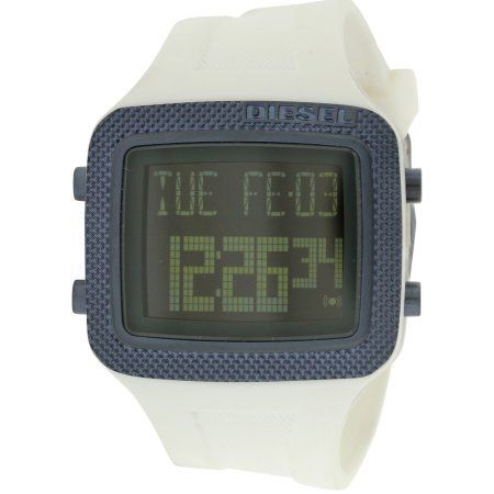 Diesel Space Age White Digital Mens Watch DZ7215, Size: 44 mm, Black