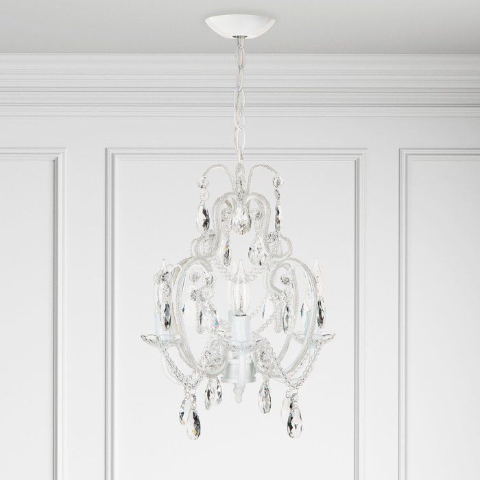 Flemington 4 Light Candle Style Chandelier Lighting In