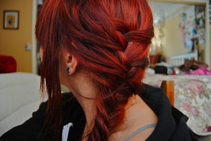 Couleur de cheveux rouge photo