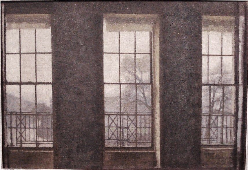 vilhelm hammershøi, interior in london. brunswick square, 1912