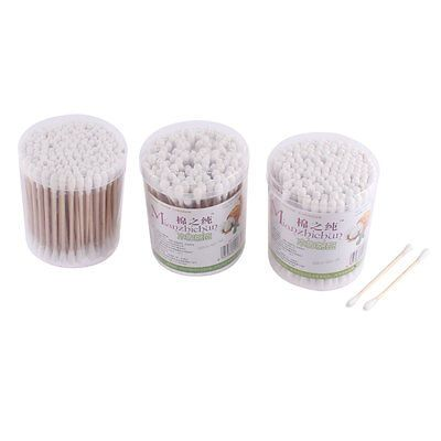 Sanitary Cotton Swab Bud Ear Clean Makeup Double Tip Stick 300 Pcs Clean Makeup Ear Cleaning Anti Aging Skin Care