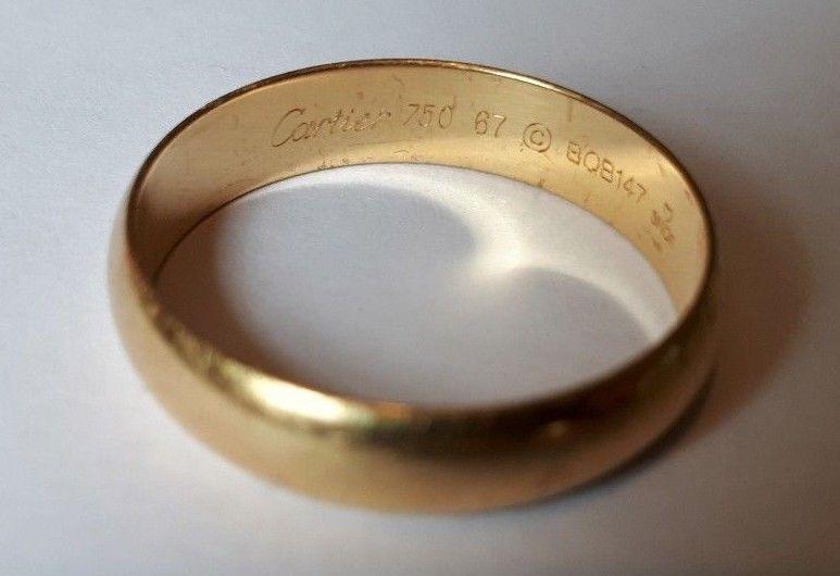 Cartier Mens 1895 Wedding Band 5mm 18k Yellow Gold Gold Cartier