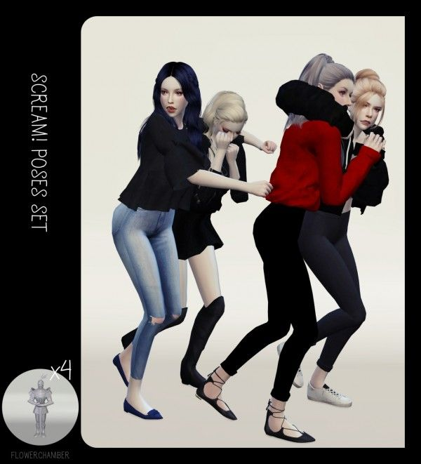Halloween poses set • Sims 4 Downloads