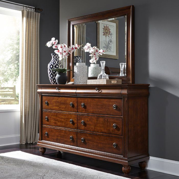 Best Oreana 8 Drawer Double Dresser Dresser With Mirror 400 x 300