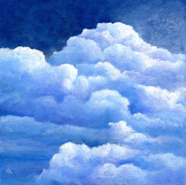 небо с облаками рисунок гуашью уразбахтина официальный инстаграм