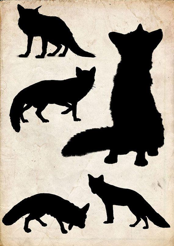 Printable Fox Silhouette Print Free Fox Silhouette Fox Silhouette Animal Silhouette Fox Images