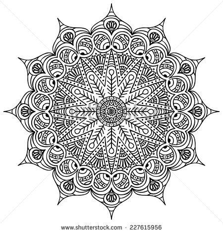 Mandala tr s difficile pour adulte a vos crayons - Mandala beau et difficile ...