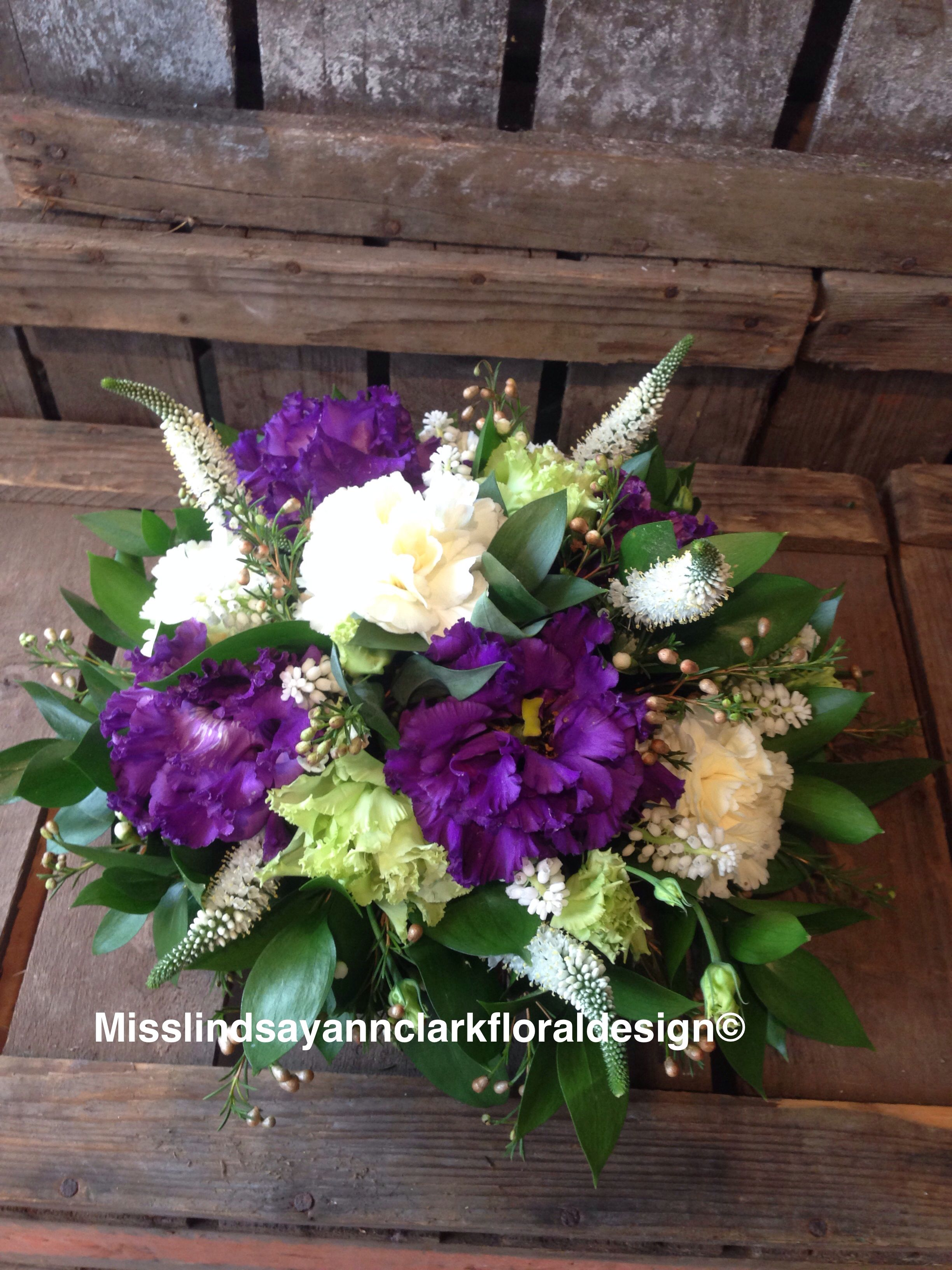Purple and cream grave posy grave posy pinterest floral
