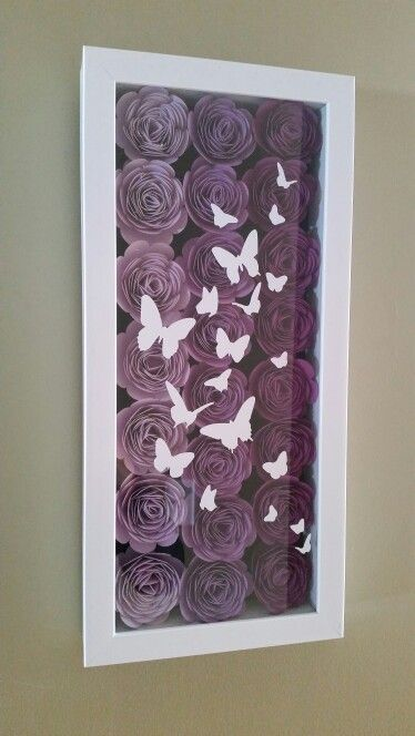 Flower Shadowbox With Butterflies Flower Shadow Box Diy