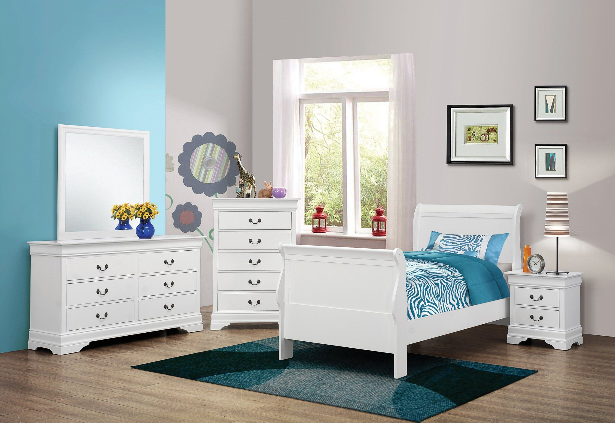 Louis Philippe White Full Bedroom Set Twin bedroom sets