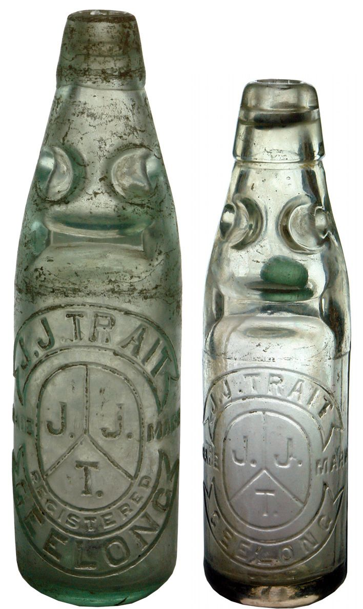 A couple of Trait Geelong Codd bottle variations