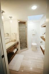 Upper Season 2  Chip and Joanna Gaines Renovation  The MidCentury Modern Home  Bathroom Remodel  Open Shelving  Modern Home DecorFixer Upper Season 2  Chip and Joanna Gai...