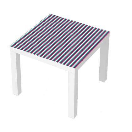 Stickers Pour Table Basse Lack 55x55 Pink Green Lines Design Deco
