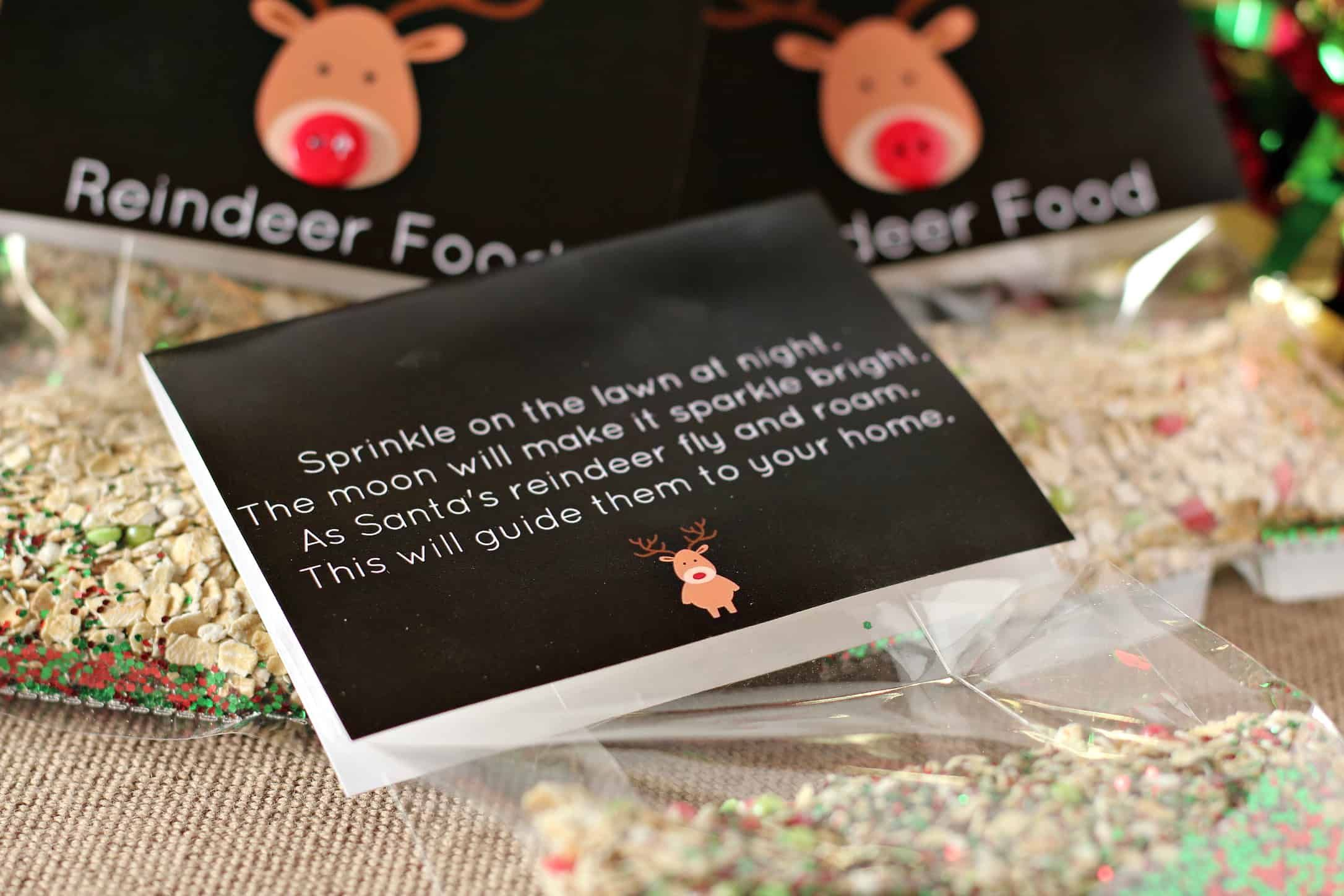 Magic Reindeer Food Printable - Saving Dollars & Sense #reindeerfoodrecipe