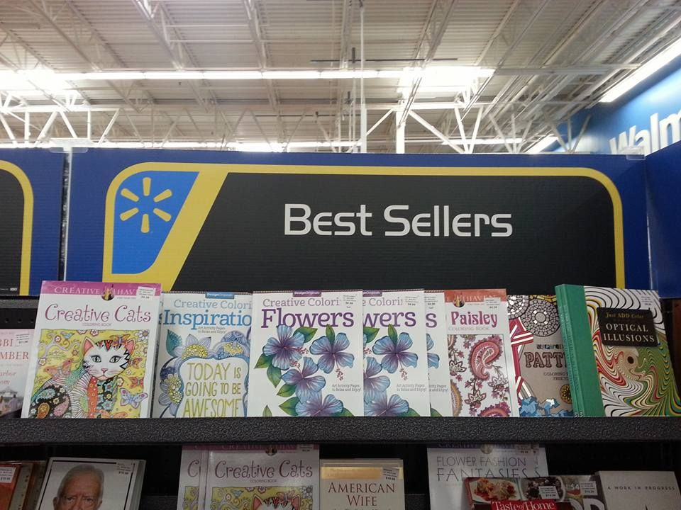 Best Sellers At WalMart Adult ColoringColoring BooksAt Walmart