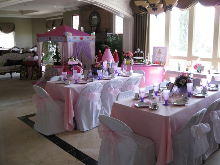 set up table for teenage party princess party table set up idea