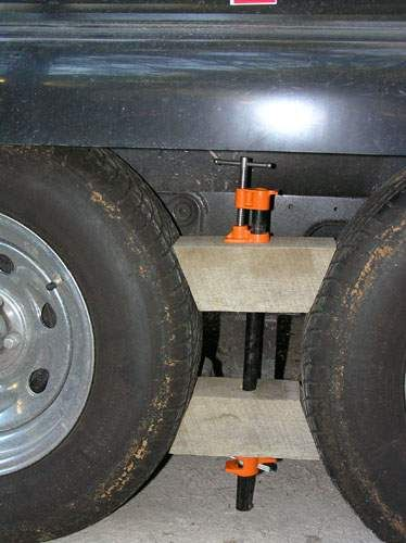 Camper Wheel Chocks >> Custom Made Rv Wheel Chocks For Tandem Wheels Our Rv