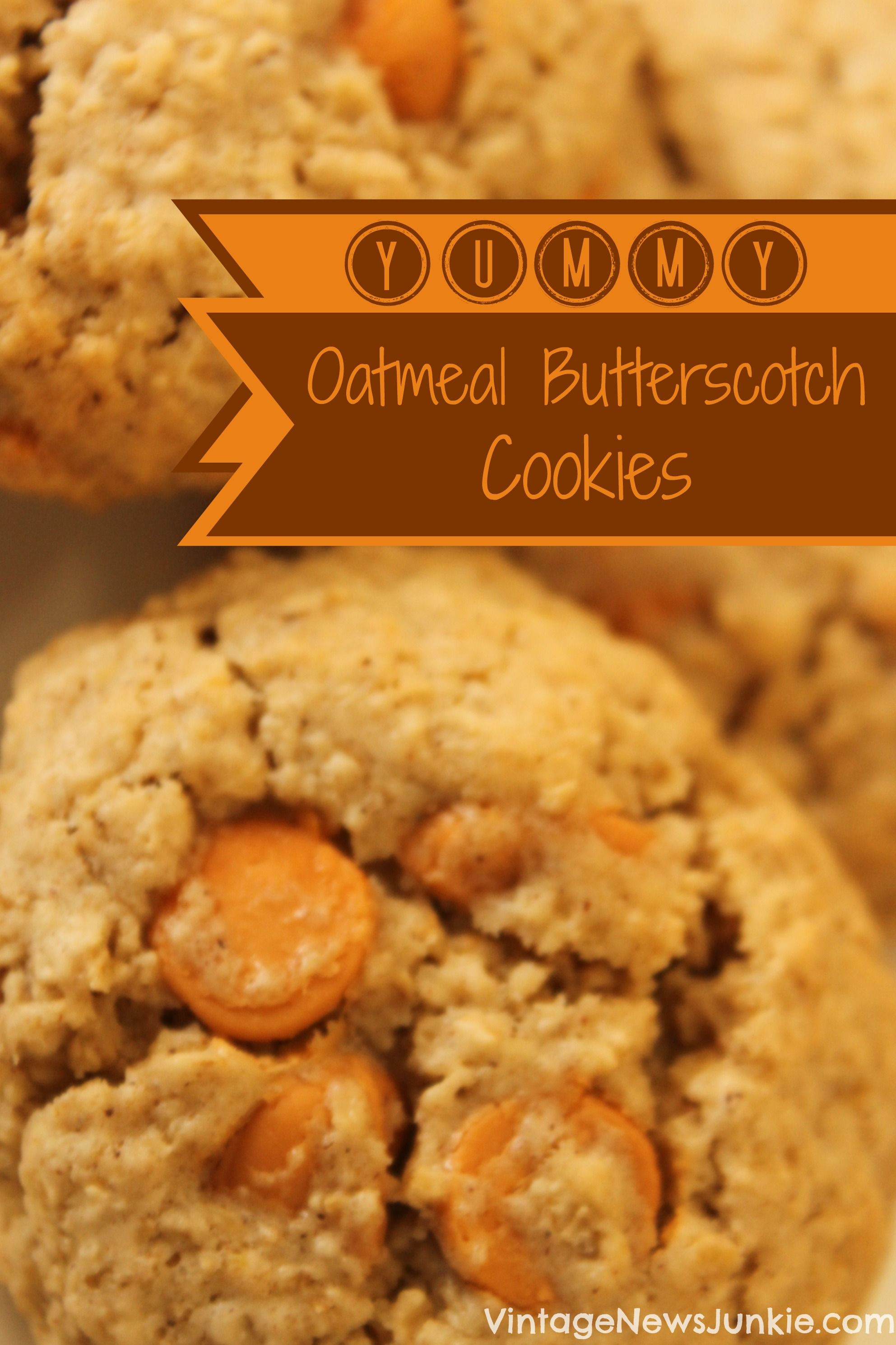 Scrumptious Easy To Make Oatmeal Butterscotch Cookies Oatmeal