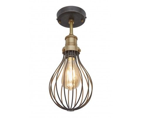 our stylish industrial orlando vintage balloon cage flush mount light by industville with its hand crafted