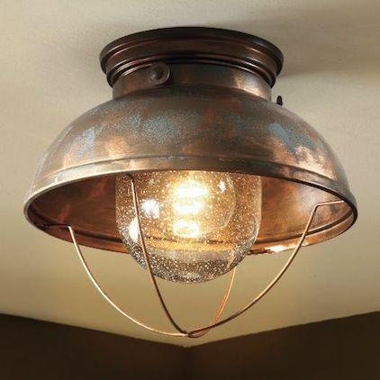 Cabelas fishermans ceiling light weathered copper to replace nipple lights wait thats from