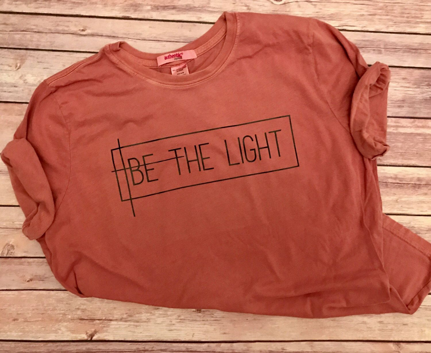 eb48d93dd BE THE LIGHT //On Sale --Women's Christian Graphic Tee, Christian Shirts