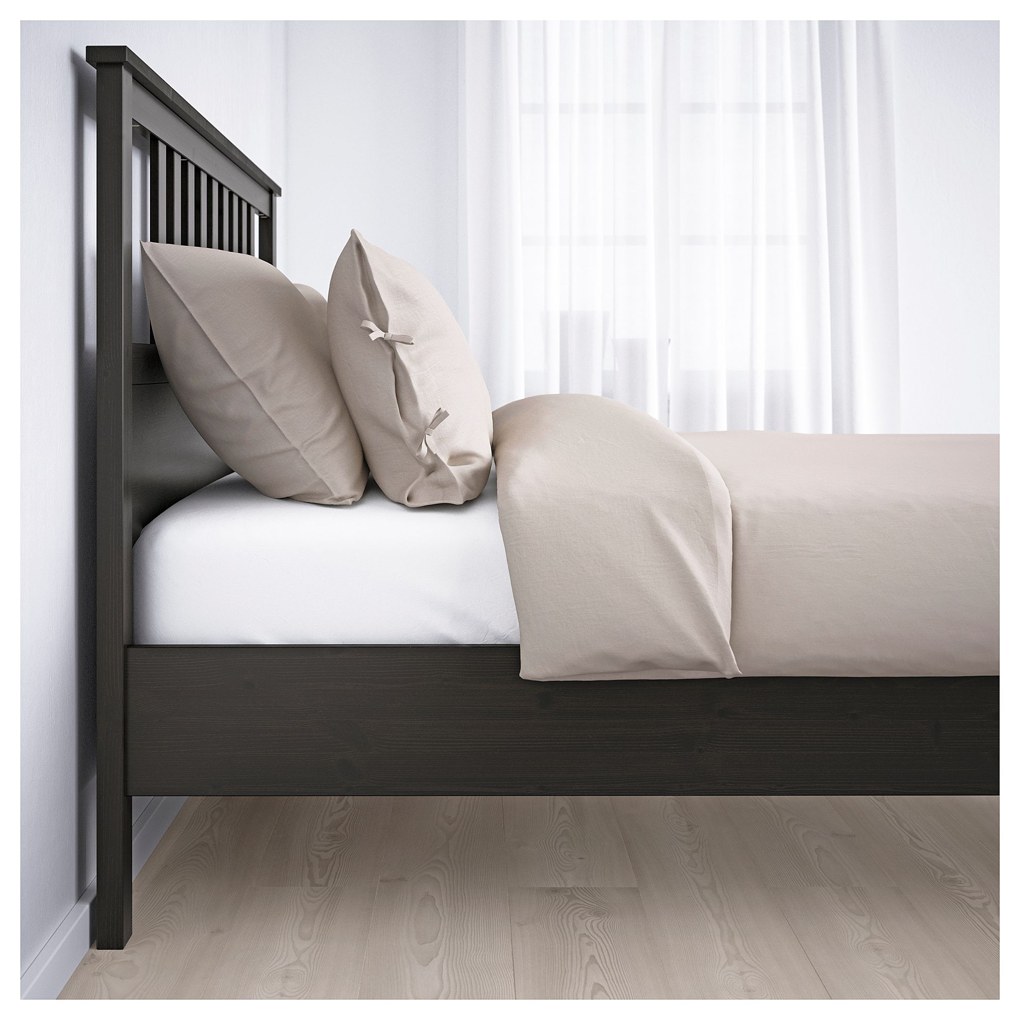 Hemnes Bettgestell Schwarzbraun Leirsund Ikea Hemnes Bett