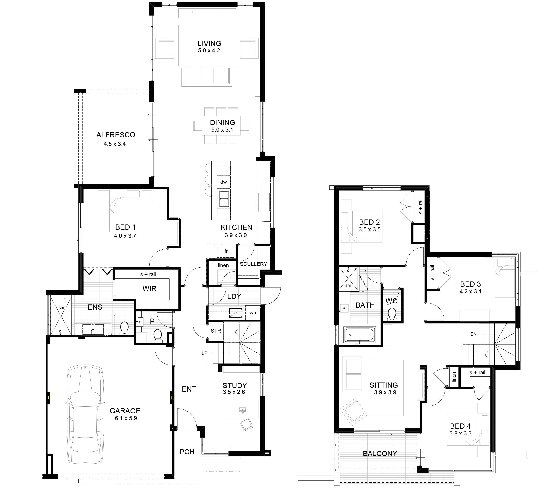 Two Storey Home Designs House Design House Plans Australia Mountain House Plans