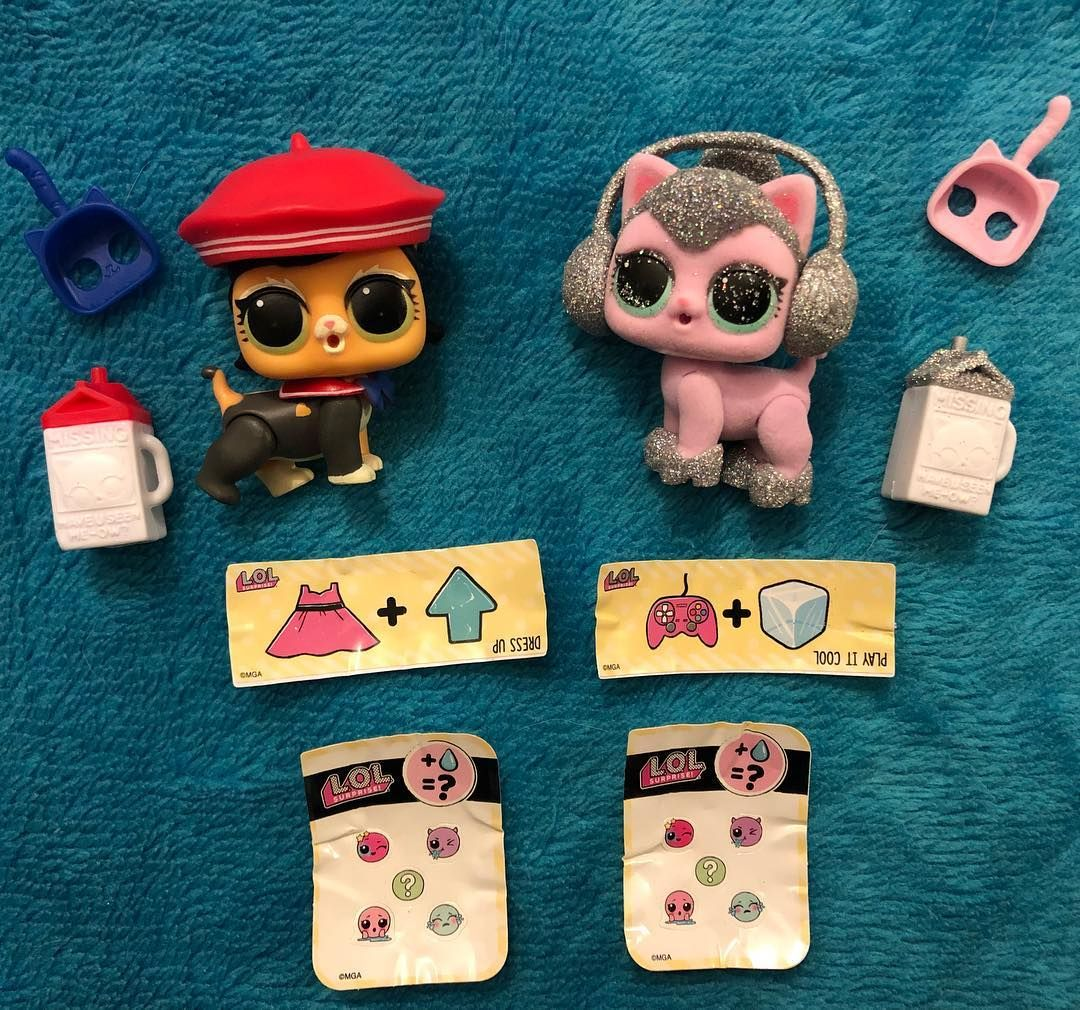 Here Are My Newest Additions To The Lol Surprise Pet Collection Kitty Kitty And Fuzzy Fan So Cute So Glittery X Lolsurprise Lol Lol Dolls Cute Kids Dolls