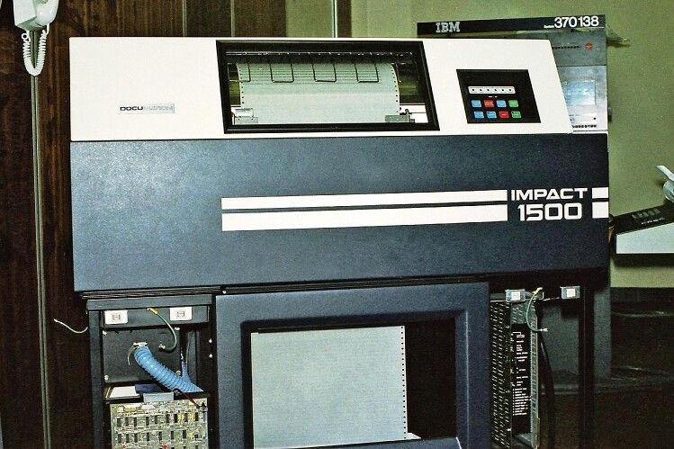 Documation Impact 1500 mainframe computer line printer, used for