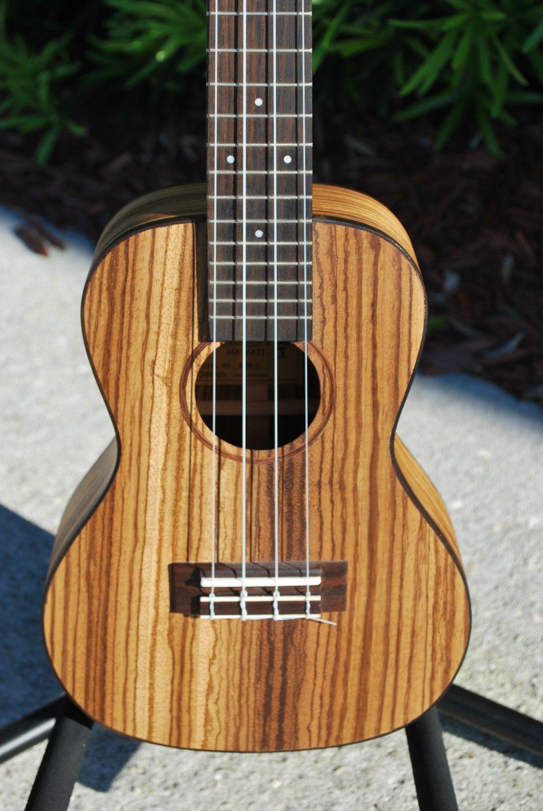 Lanikai Szw C Solid Zebrawood Concert Ukulele New 1106 Ebay