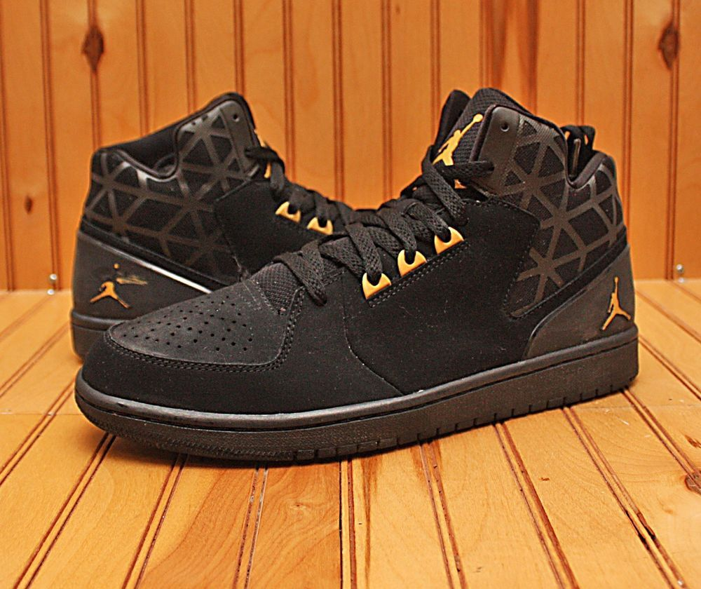 2015 Nike Air Jordan 1 Flight 3 Size 11.5 -Black Metallic Gold White-  706954 016  ed4dcc08f