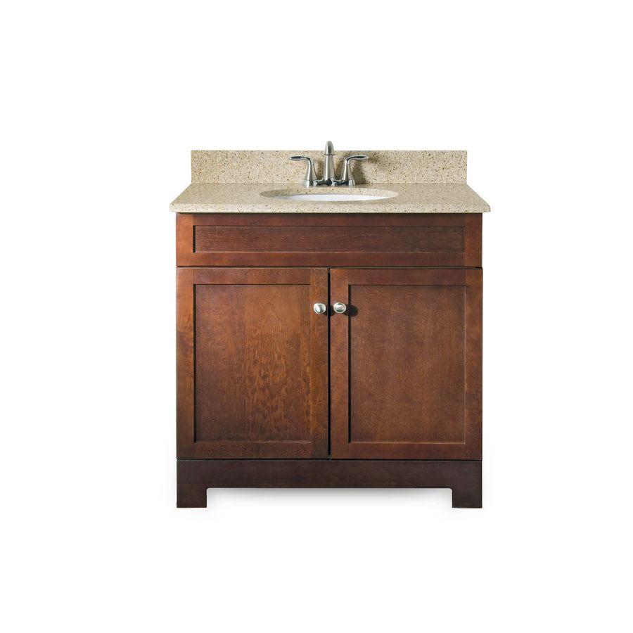 Simple guest bath vanity replacement 25x19 Longshire Espresso ...