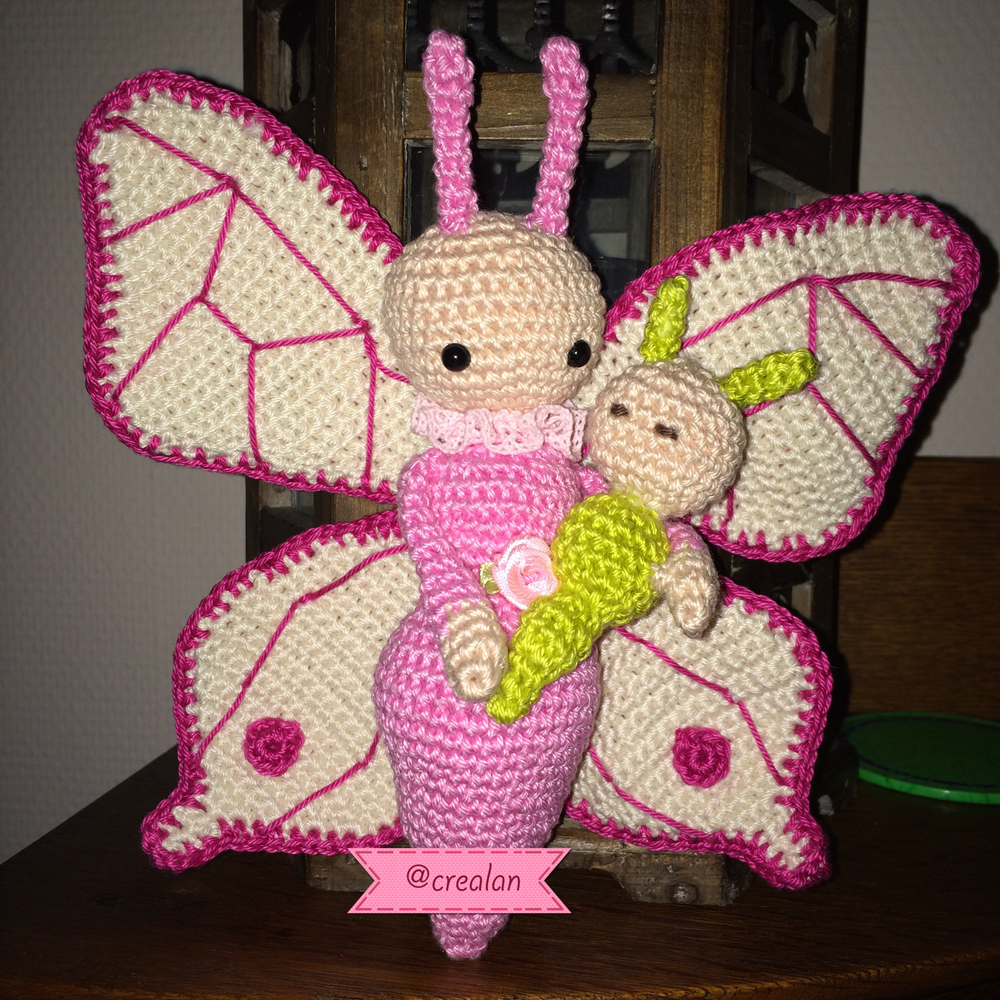 Butterfly Bree and Caterpillar Calin made by Lilian W - crochet ...