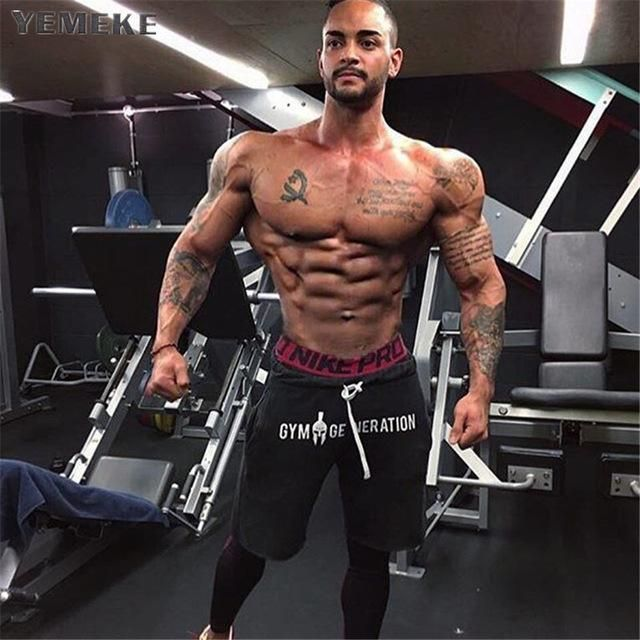 Men's Clothing 2019 Mens Casual Summer Shorts Sexy Sweatpants Male Fitness Bodybuilding Workout Man Fashion Crossfit Short Pant Brand Clothing