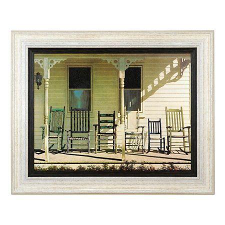 Farmhouse Family Rocking Chairs Framed Art Print   Kirklands