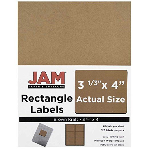 JAM Paper Shipping Address Labels - Large - 3 1\/3 - address labels word template