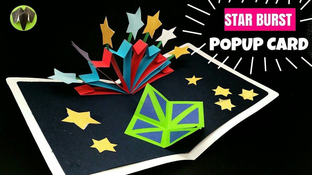 Star Burst Popup Card Diy Tutorial 920 Graduation Cards Diy Cards Handmade Pop Up Cards